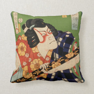 Japanese actor (#1) (Vintage Japanese print) Throw Pillow