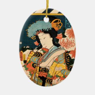 Japanese actor (#2) (Vintage Japanese print) Ceramic Ornament