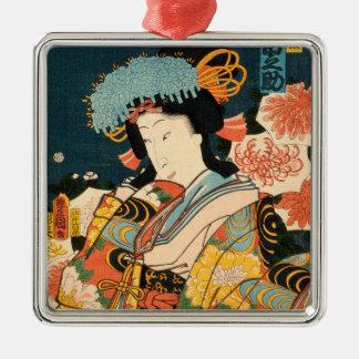 Japanese actor (#2) (Vintage Japanese print) Metal Ornament