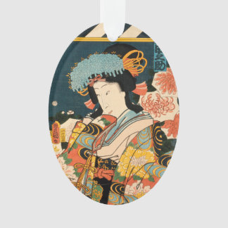 Japanese actor (#2) (Vintage Japanese print) Ornament