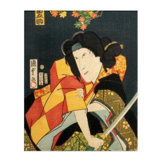 Japanese actor (#6) (Vintage Japanese print Acrylic Wall Art