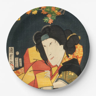 Japanese actor (#6) (Vintage Japanese print) Paper Plate