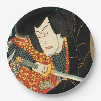 Japanese actor (#7) (Vintage Japanese print) Paper Plate