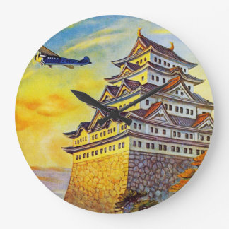 Japanese Air Transport with Pagoda Clock
