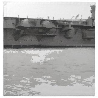 Japanese_aircraft_carrier_Hiryu_1939_cropped Napkin