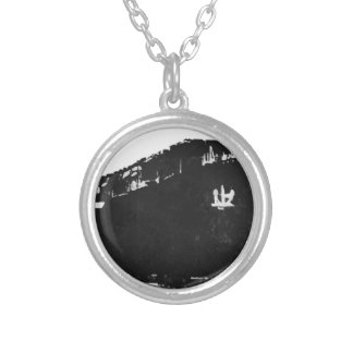 Japanese_aircraft_carrier_Hiyo Silver Plated Necklace