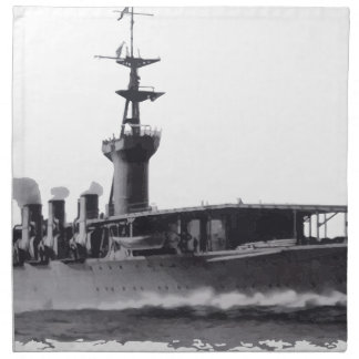 Japanese_aircraft_carrier_Hosho_1922 Napkin