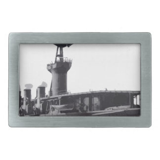 Japanese_aircraft_carrier_Hosho_1922 Rectangular Belt Buckle