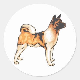 Japanese Akita Round Sticker