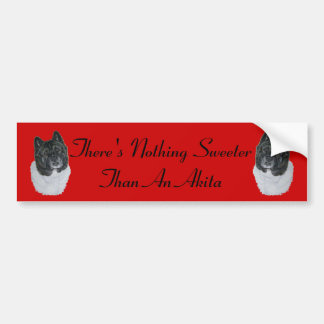 Japanese/American akita realist dog portrait Bumper Sticker