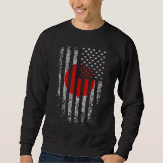 Japanese American Flag Grunge Sweatshirt