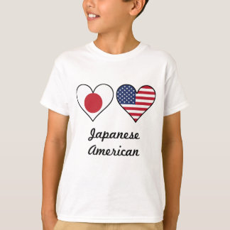 Japanese American Flag Hearts T-Shirt