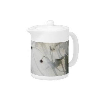 Japanese anemone backlit teapot