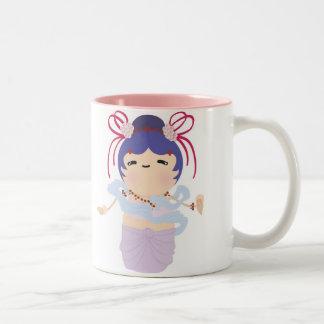Japanese Angel Doll Two-Tone Coffee Mug