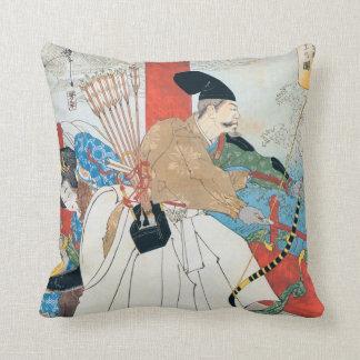 Japanese Archer Ancient Art Throw Pillow