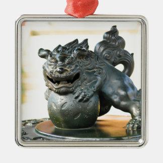 Japanese architecture Silver-Colored square ornament