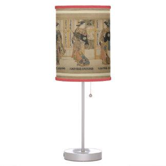 Japanese art 3 beauties table lamp