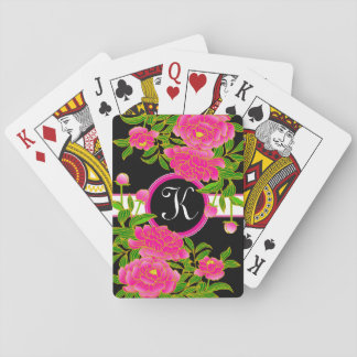 Japanese Art Beautiful Peonies Playing Cards