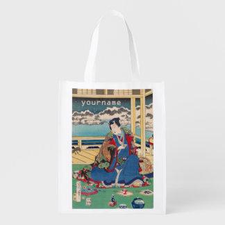 Japanese Art custom reusable bag