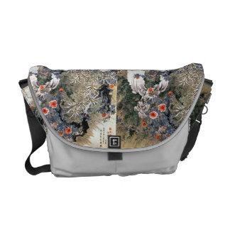 Japanese art messenger bag.. commuter bag