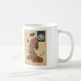 Japanese Art Print Asagao no hachi o motsu bijin Classic White Coffee Mug