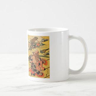Japanese Art Print- Daimyō no okuzashiki Basic White Mug