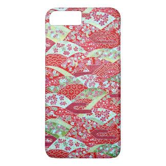 Japanese Art Red Floral Yuzen iPhone 8 Plus Case
