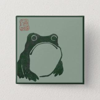 Japanese art ukiyo frog 2 inch square button
