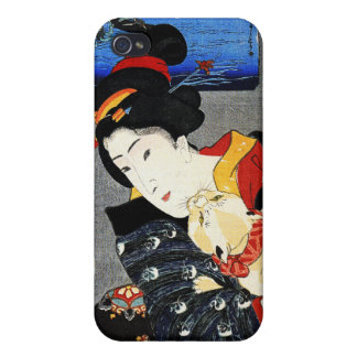 Japanese Artwork - Woman with Cat - iPhone 4 Caae Case For iPhone 4