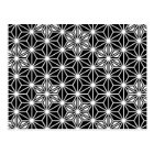 Japanese Asanoha pattern - black and white Postcard