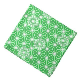 Japanese Asanoha pattern - jade green Bandana