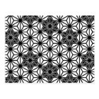 Japanese Asanoha pattern - white and black Postcard