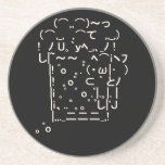 Japanese ASCII Art「beer」 ドリンク用コースター