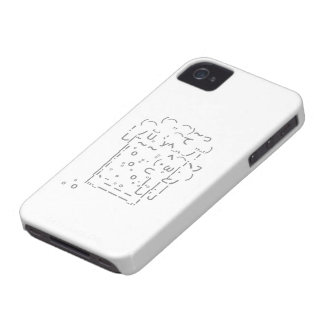 "Japanese ASCII Art ""beer"" (gray) iPhone 4 Case-Mate Case"