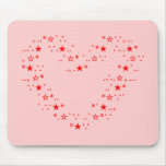 Japanese ASCII Art「heart」赤色 マウスパッド