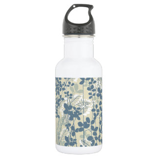 Japanese Asian Art Floral Blue Flowers Print 532 Ml Water Bottle