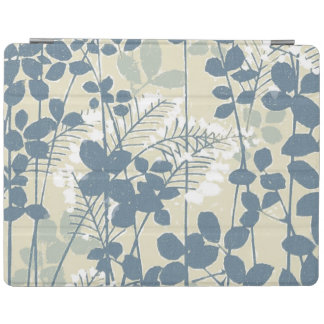 Japanese Asian Art Floral Blue Flowers Print iPad Cover