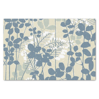 Japanese Asian Art Floral Blue Flowers Print Tissue Paper