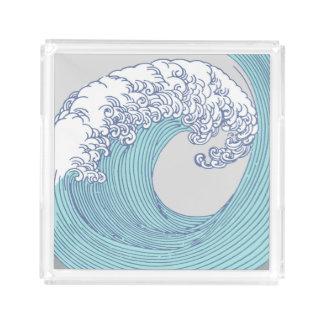 Japanese Asian Surf Wave Art Print Ocean Beach Acrylic Tray