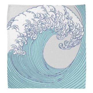 Japanese Asian Surf Wave Art Print Ocean Beach Bandana