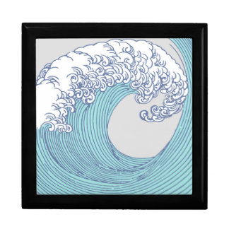 Japanese Asian Surf Wave Art Print Ocean Beach Gift Box