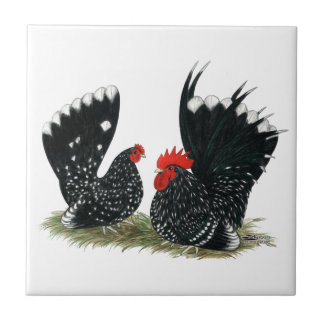 Japanese Bantams Mottled Tile