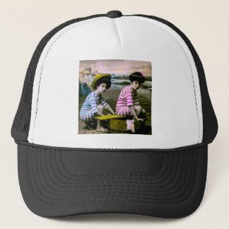 Japanese Bathing Beauties Vintage Beach Babes Trucker Hat