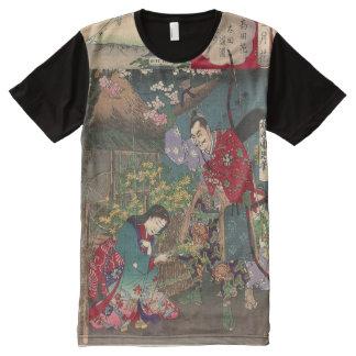 Japanese Beautiful Geisha Samurai Art