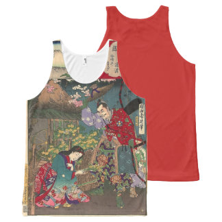 Japanese Beautiful Geisha Samurai Art All-Over-Print Tank Top