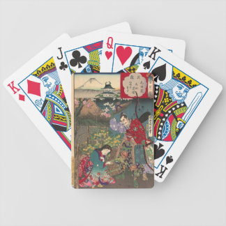 Japanese Beautiful Geisha Samurai Art Bicycle Playing Cards