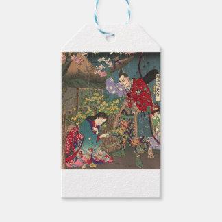 Japanese Beautiful Geisha Samurai Art Gift Tags