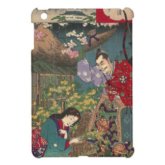 Japanese Beautiful Geisha Samurai Art iPad Mini Cover
