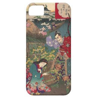Japanese Beautiful Geisha Samurai Art iPhone 5 Cases