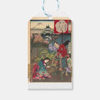 Japanese Beautiful Geisha Samurai Art Pack Of Gift Tags
